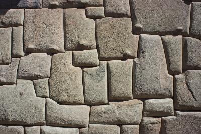 Magnificent Inca Wall, Cuzco, UNESCO World Heritage Site, Peru, South America-Peter Groenendijk-Photographic Print