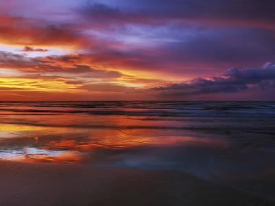 Magnificent sunset with monsoon clouds-Frank Krahmer-Photographic Print