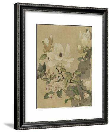 Magnolia and Butterfly--Framed Art Print