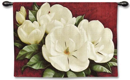Magnolia Crimson-Igor Levashov-Wall Tapestry