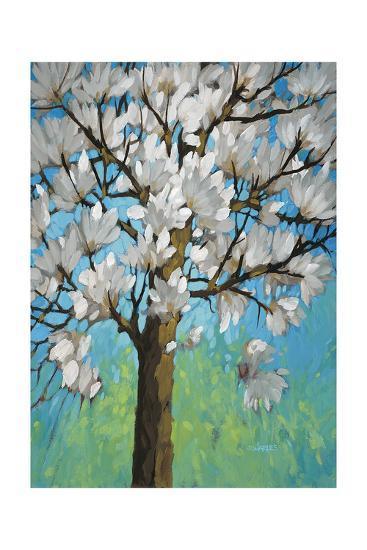 Magnolia in Bloom 1-J Charles-Art Print