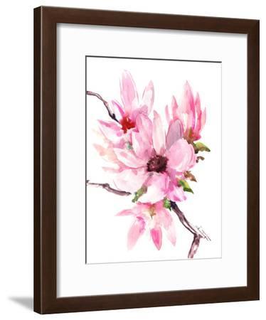 Magnolia-Suren Nersisyan-Framed Art Print