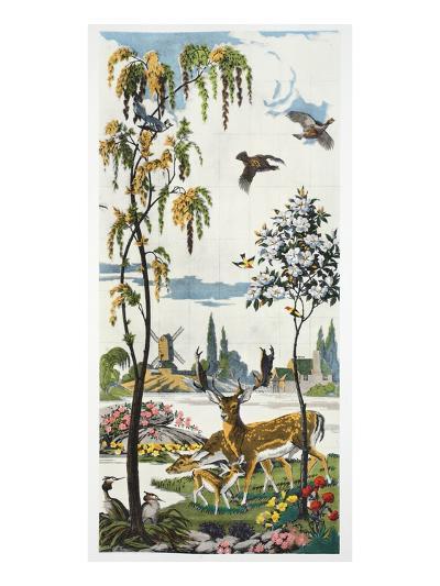 Magnum Opus: Fallow Deer, Pub. 1933 (Colour Litho)-Harry Wearne-Giclee Print