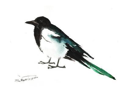 Magpie 2-Suren Nersisyan-Art Print