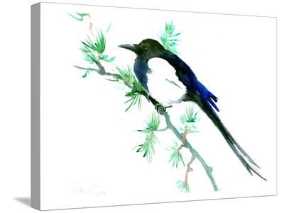 Magpie-Suren Nersisyan-Stretched Canvas Print
