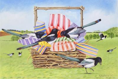 Magpies, 1990-E.B. Watts-Giclee Print
