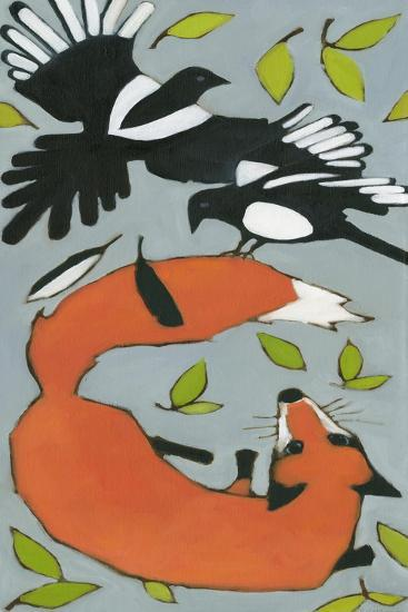Magpies and Fox, 2013-Megan Moore-Giclee Print