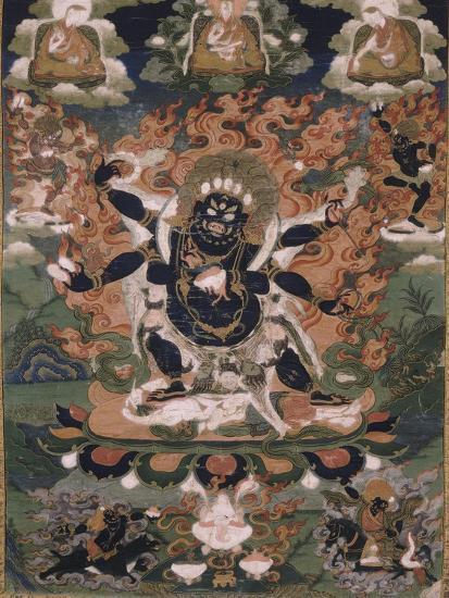 Mahâkâla, sous son aspect Sadbhuja--Giclee Print