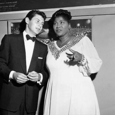 Mahalia Jackson, Eddie Fisher - 1955-Isaac Sutton-Photographic Print