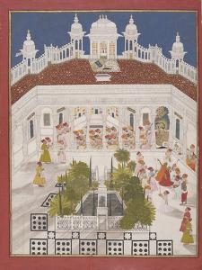 Maharana Ari Singh Worshipping in His Palace, 1765