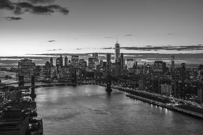 Mahattan Bridge, East River and Lower Manhattan, New York City, New York, USA-Jon Arnold-Photographic Print