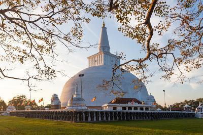 Mahatupa Big Dagoba in Anuradhapura at Sunset, Unesco, Sri Lanka, Asia-Honza Hruby-Photographic Print