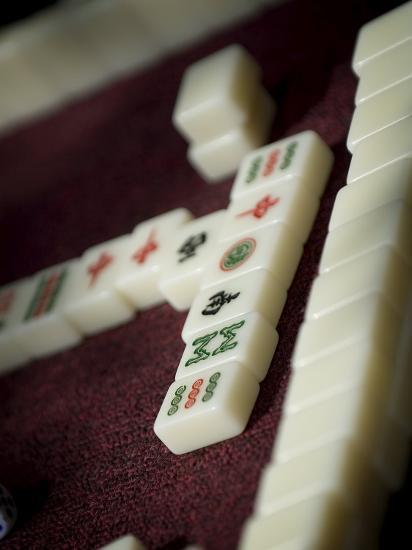 Mahjong Tiles, Dali, Yunnan, China-Porteous Rod-Photographic Print