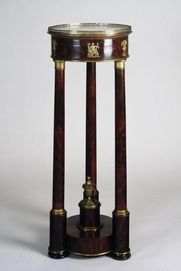 Mahogany and Gilt Bronze Vase Stand, 1800-1810, France--Giclee Print