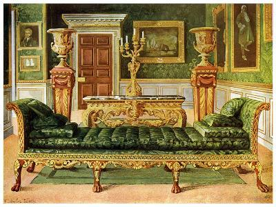 Mahogany and Gilt Georgian Suite, Longford Castle, Wiltshire, 1911-1912-Edwin Foley-Giclee Print
