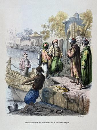 Mahomet Ali Arriving in Constantinople, C1847-Jean Adolphe Beauce-Giclee Print