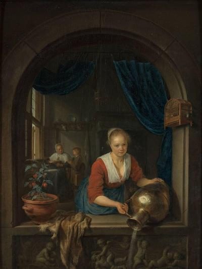 Maid at the Window, C. 1660-Gerard Dou-Giclee Print