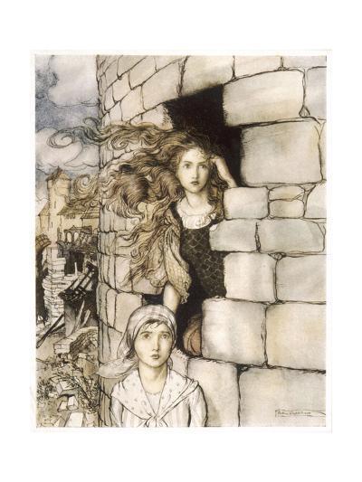 Maid Maleen, Rackham-Arthur Rackham-Giclee Print