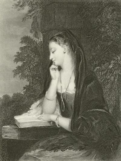 Maiden Meditation-Gilbert Stuart Newton-Giclee Print