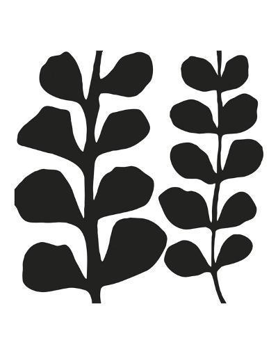 Maidenhair (black on white)-Denise Duplock-Art Print
