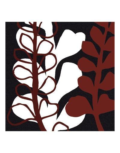 Maidenhair on Black Ground-Denise Duplock-Art Print