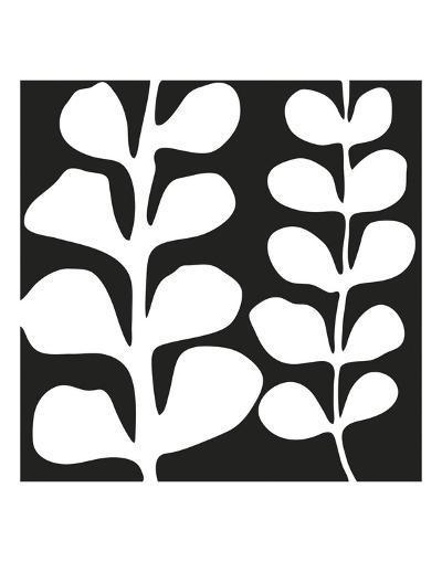 Maidenhair (white on black)-Denise Duplock-Art Print