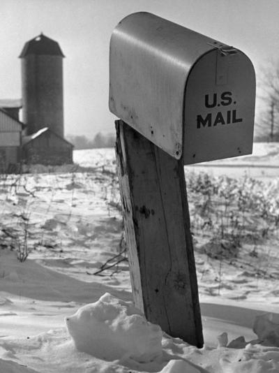 Mail Box in Snow-George Marks-Photographic Print