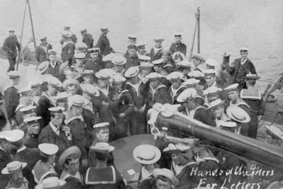 Mail Call on Board a Ship, Early 20th Century--Giclee Print