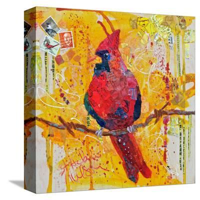 Mail Cardinal--Stretched Canvas Print