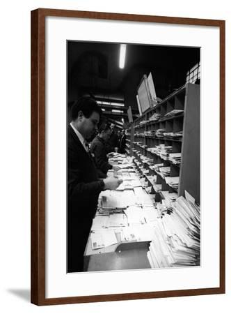Mail Sorting--Framed Photographic Print