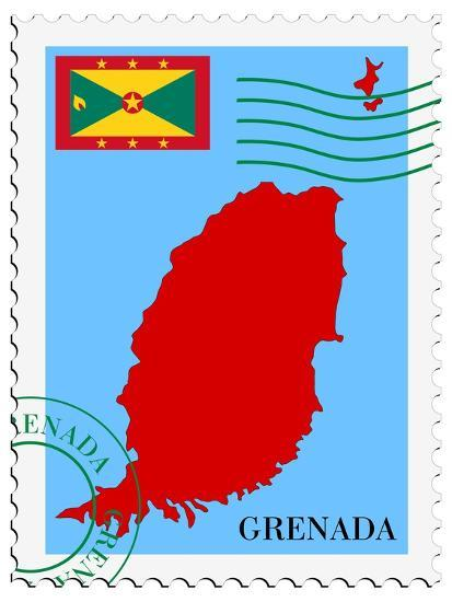 Mail To-From Grenada-Perysty-Art Print