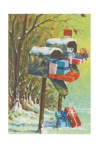 Mailboxes with Presents