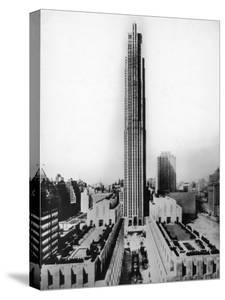 Main Building of Rockefeller Center and Surrounding Area in New York City
