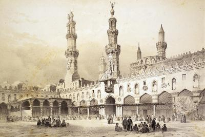 Main Courtyard of Al-Azhar Mosque (10th Century) in Cairo-Emile Prisse d'Avennes-Giclee Print