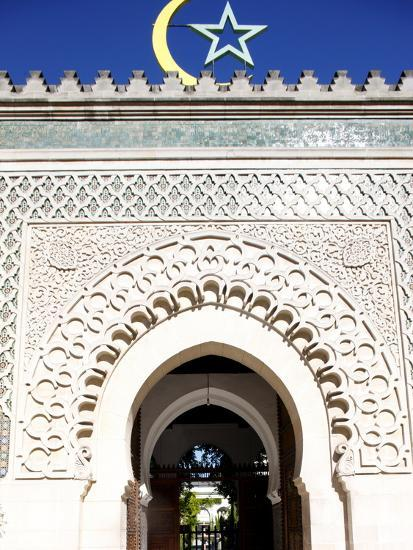 Main Door of the Paris Great Mosque, Paris, France, Europe--Photographic Print
