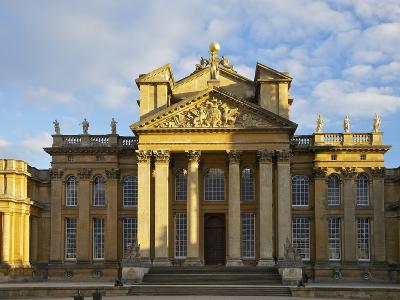 Main Entrance, Blenheim Palace, UNESCO World Heritage Site, Woodstock, Oxfordshire, England, UK-Peter Barritt-Photographic Print