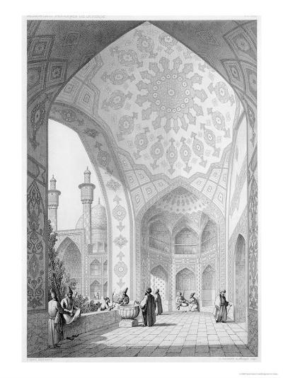 Main Entrance of the Medrese-I-Shah-Hussein, Isfahan, Modern Monuments of Persia-Pascal Xavier Coste-Giclee Print