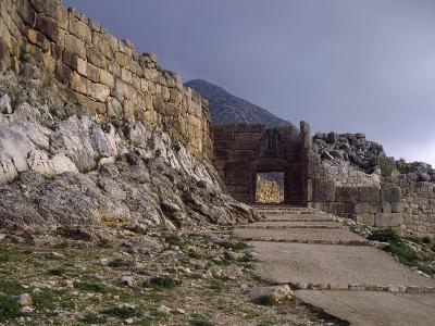 Main Entrance to Acropolis of Mycenae and Lions' Gate, Greece--Giclee Print