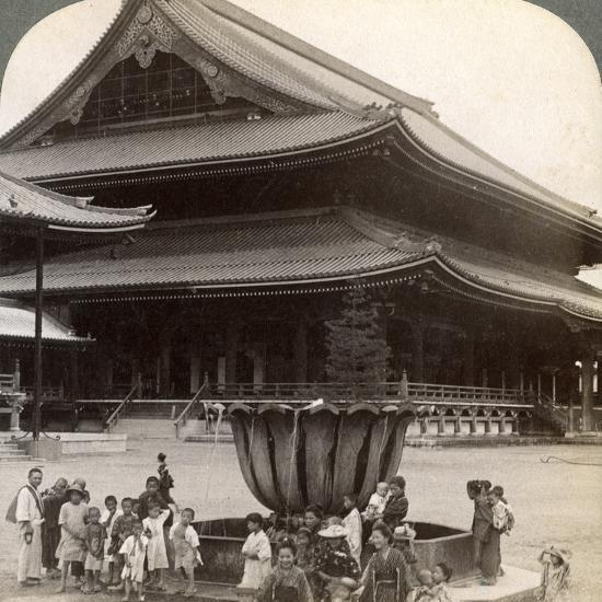 Main Front of Higashi Hongan-Ji, Largest Buddhist Temple in Japan, Kyoto, 1904-Underwood & Underwood-Photographic Print