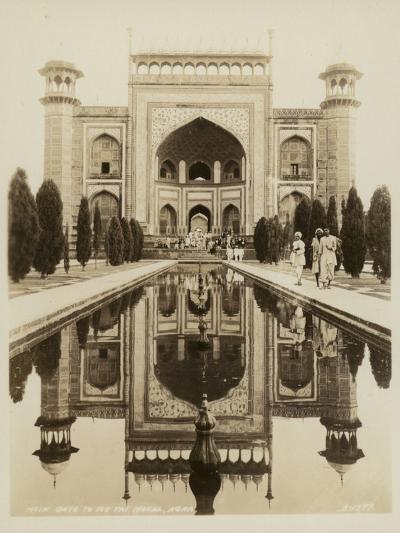 Main Gate to the Taj Mahal, Agra--Photographic Print