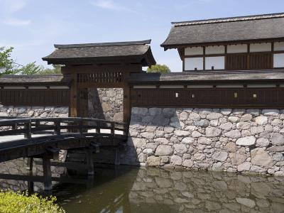 Main Gate with Bridge over Moat at Matsushiro Castle in Nagano Prefecture, Japan--Photographic Print