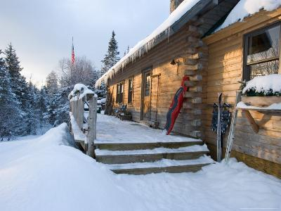Main Lodge of the AMC's Little Lyford Pond Camps, Northern Forest, Maine, USA-Jerry & Marcy Monkman-Photographic Print