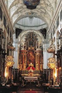 Main Nave and Altar of St Peter's Abbey Church (Stift Sankt Peter) in Rococo Style