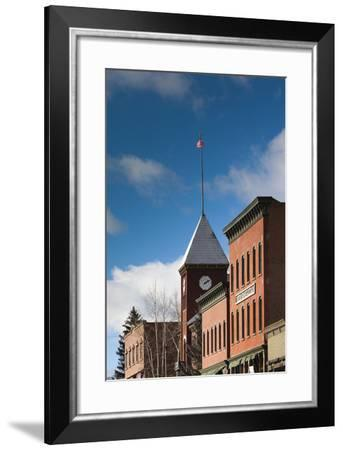 Main Street Buildings, Telluride, Colorado, USA-Walter Bibikow-Framed Photographic Print
