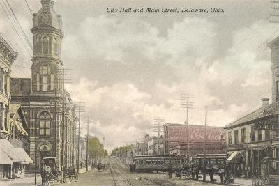 Main Street, City Hall, Delaware, Ohio--Art Print