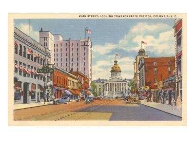 Main Street, Columbia, South Carolina--Art Print