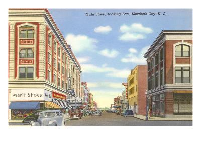 Main Street, Elizabeth City, North Carolina--Art Print