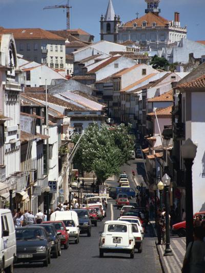 Main Street in Angra Do Heroismo, Terceira, Azores, Portugal, Atlantic, Europe-Ken Gillham-Photographic Print