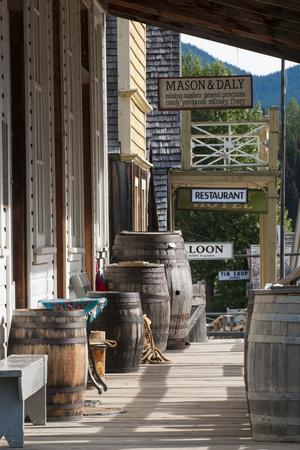 Main Street in Old Gold Town Barkerville, British Columbia, Canada-Michael DeFreitas-Photographic Print