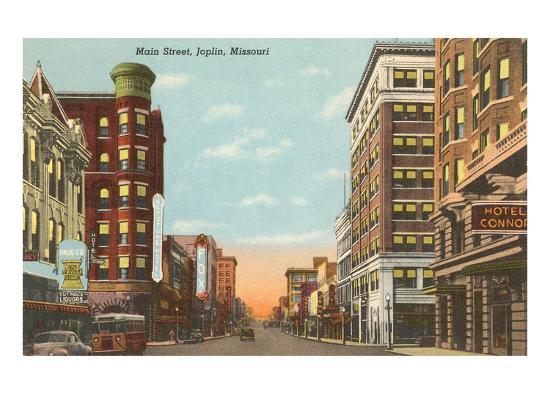 Main Street, Joplin, Missouri--Art Print